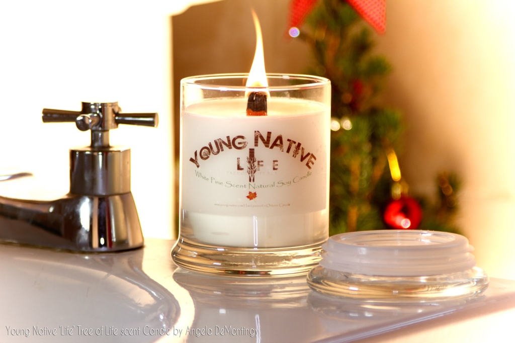 Young Native Tree Of Life Candle from Angela DeMontigny