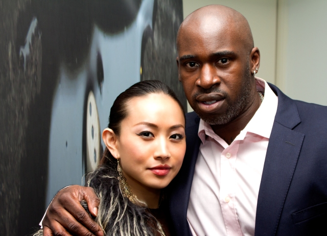 Ayi Jihu with Fredi Kruga at the screening of his new movie 'If Only'