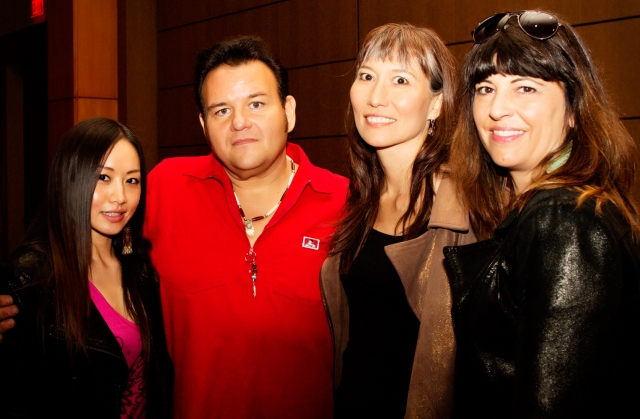 Chinese Star Ayi Jihu with Indian Elvis, Native Star Terri Lynn and Top Native Fashion Designer Angela DeMontigny