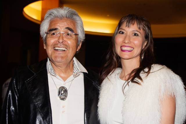 Haida Native Music star Terri Lynn with her husband Robert Davidson at the NAMA's
