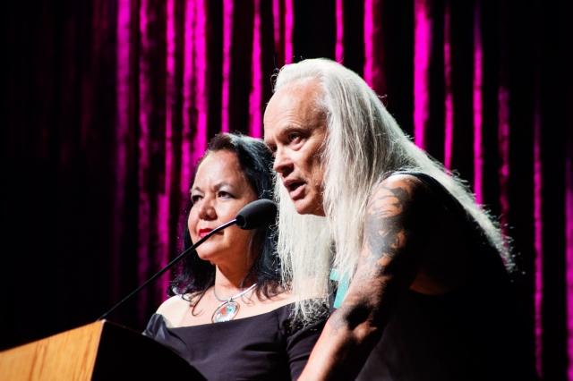 Ayi Jihu at the Native American Music Awards