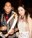 Chinese star Ayi Jihu with Tony Duncan 'Artist of the year' at the Native American Music Awards 2013