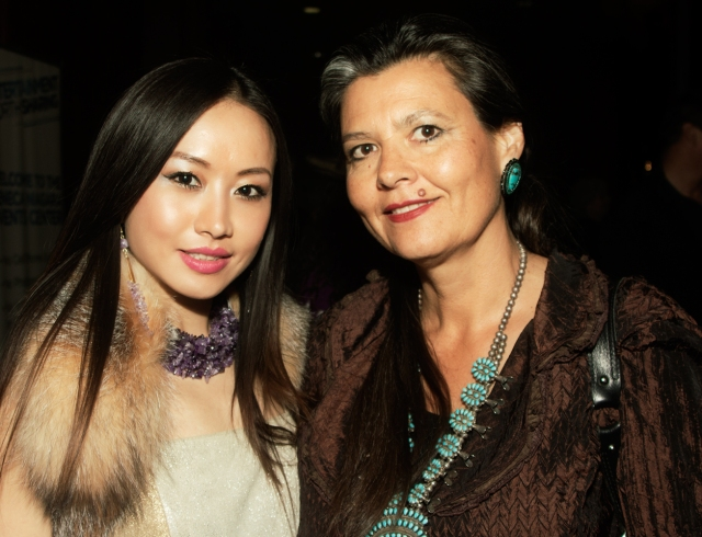 Ayi Jihu with Pearl Means wife of Native American legend Russell Means