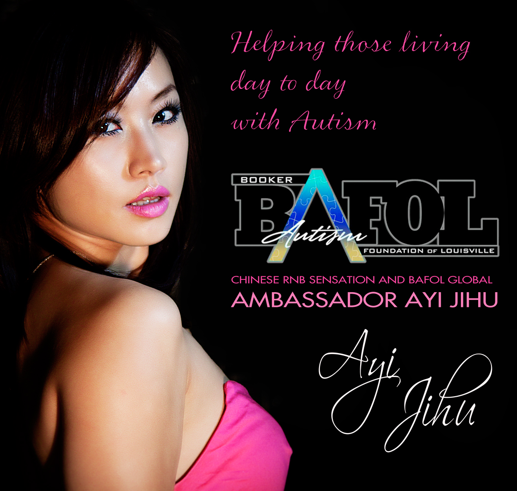 Chinese star Ayi Jihu Global Ambassador for The Booker Autism Foundation of Louisville (BAFOL