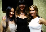 Chinese Star Ayi Jihu and Top Native Fashion designer Angela DeMontigny with Native singing sensation Jana Mashonee