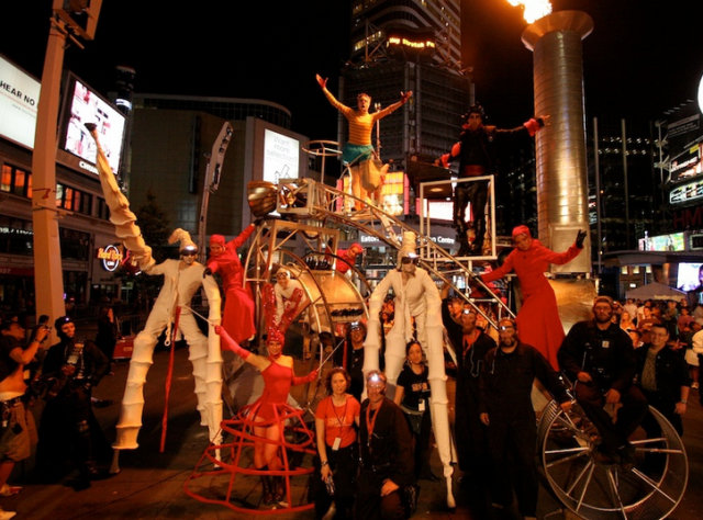 The Amazing Circus Orange Team were involved in the Fearchaser teaser 2013