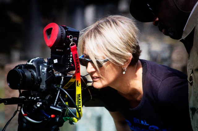 Award winning Director Flamina Graziadei works on her latest film I believe in Monsters