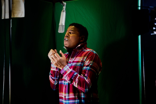 Tito Jackson gets straight to work at Shlepp Studios in London