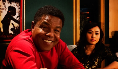 Tito Jackson and Ayi Jihu in the studio