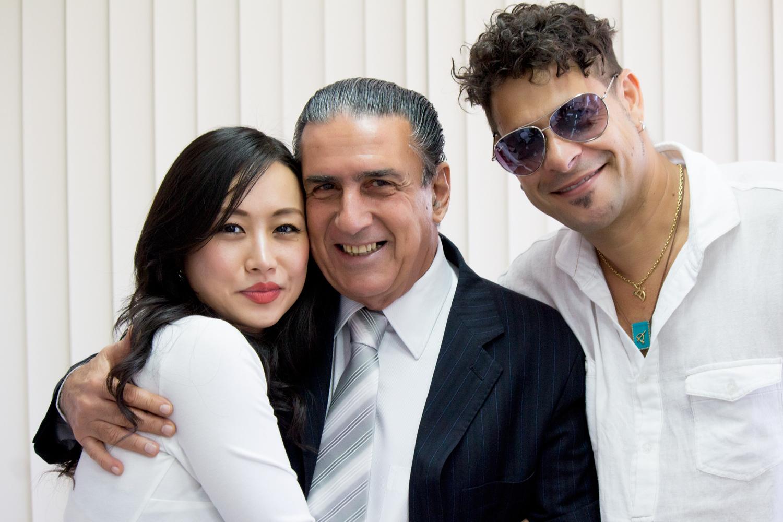 Ayi Jihu and Edu Casanova with Bahia Secretary of Tourism
