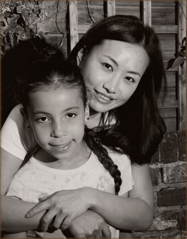 Ayi Jihu with Tiya Falcon Ellis who plays her daughter in the film