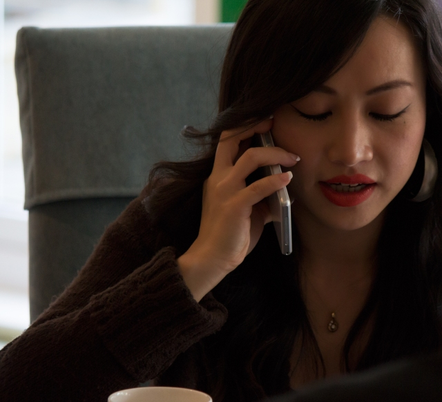 Chinese star Ayi Jihu speaks to GlobalNewsInk on the phone