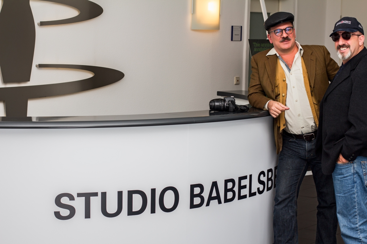James With and Steve Rice at Babelsberg studios in Berlin