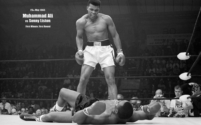 Muhammad Ali knocks out Sonny Liston in the first round
