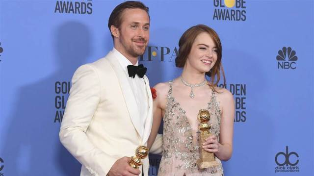 La La Land scoops it all at the Golden Globes