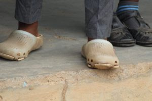 Because of Mr Banda's efforts many local school children now have shoes to wear to school