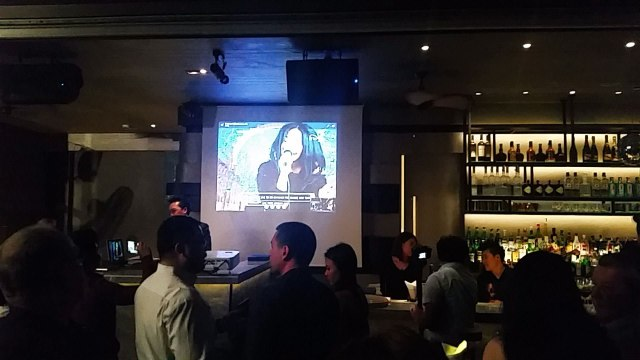 Stephan Dante's performance was beamed live on screens throughout the Char Rooftop Bar in Bangkok