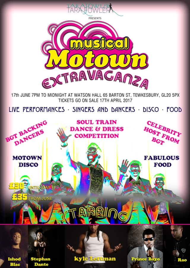 Event Producer Tara Fowler is putting on Motown event in Tewkesbury featuring Kyle Lettman and Stephan Dante
