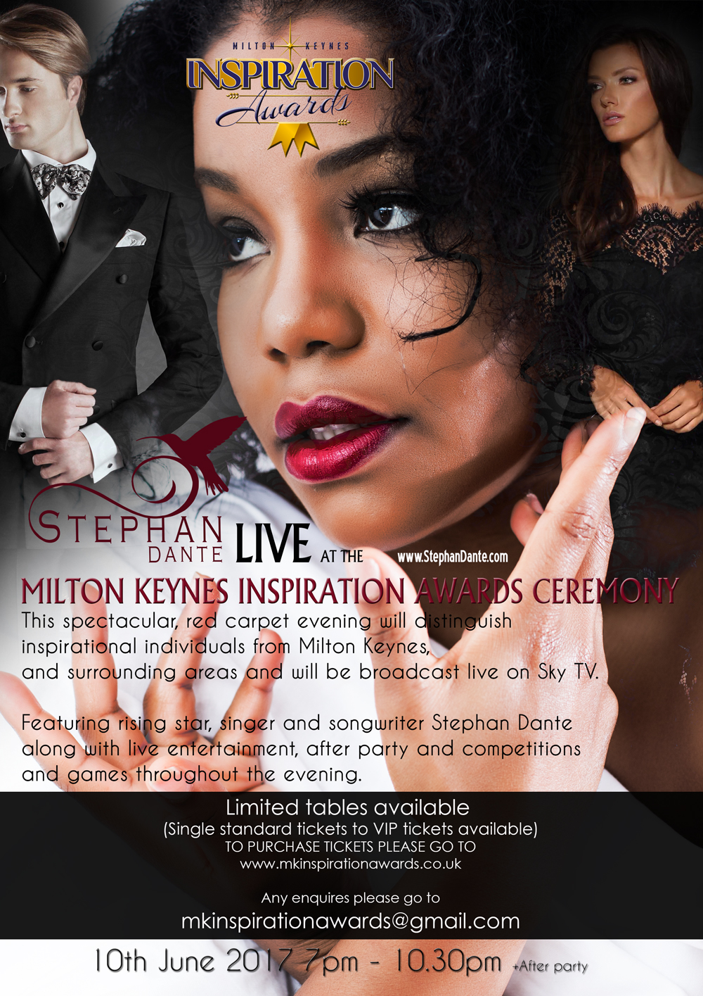Watch Stephan Dante Live at the Inspiration Awards in Milton Keynes