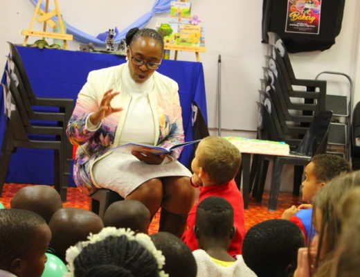Entertaining the children is former Mayor Thembeka Mchunu