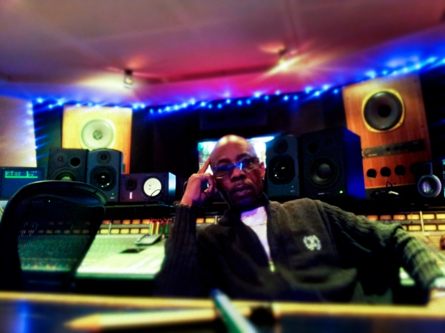 Artist, writer, producer and Maverick Stevie Eagle E at Shlepp Studios in London