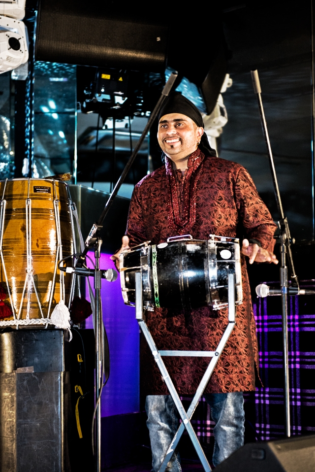Legendary Bhangra musician Tubsy Dholki Walla live at the exclusive G Salvatore Fashion event