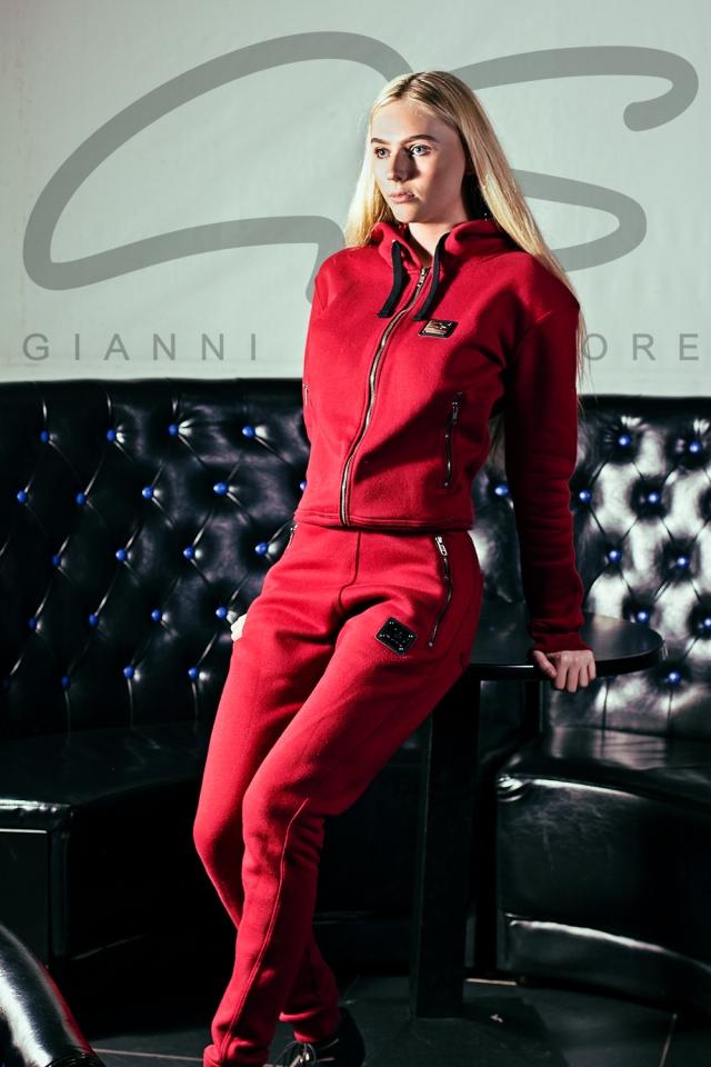 G Salvatore Blood red fleece Tracksuit