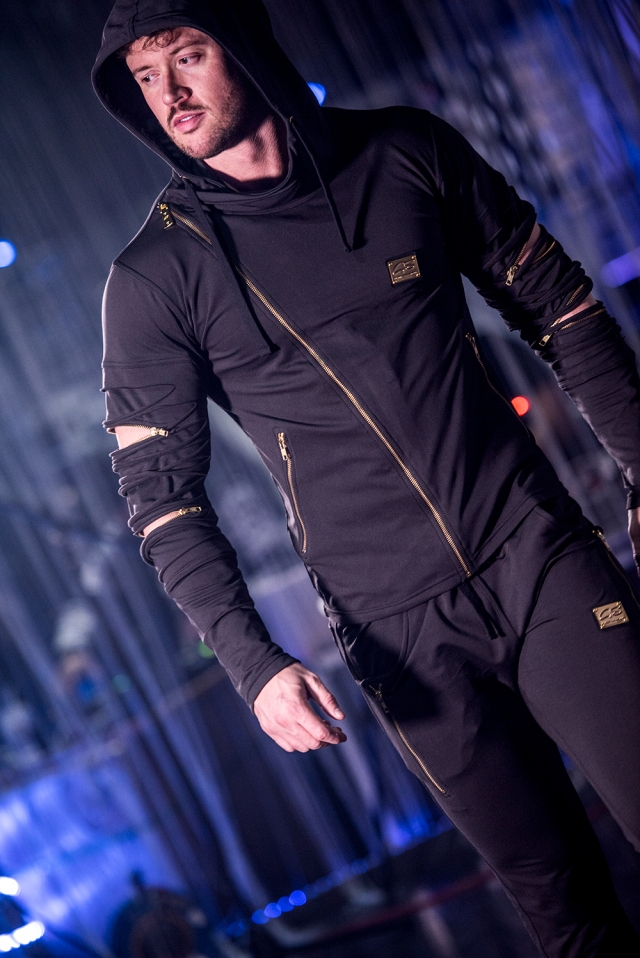 G Salvatore Assassins Tracksuit on display at the G Salvatore Fashion Showcase in Wales