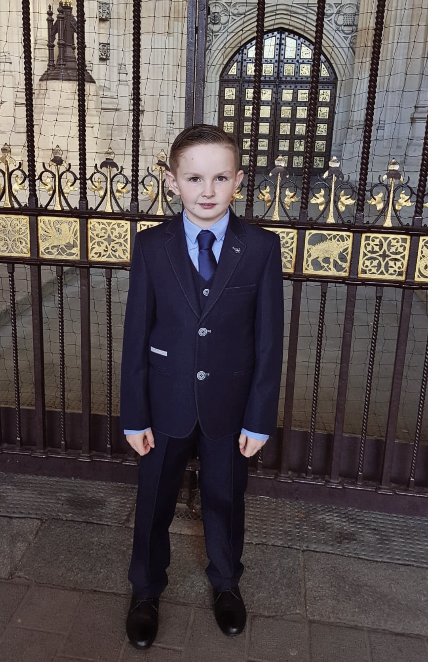 Word champion Super kid Tyler ford picks up his BCA Medal today from the palace of Westminister.